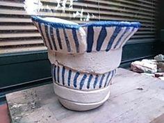 Maceta de ceràmica hecha a mano