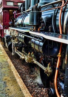 Steam Train, Brecon, a long-established market-town and community in southern Powys, Mid-Wales, England
