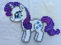 Rarity - My Little Pony Friendship is Magic perler beads by PrettyPixelations