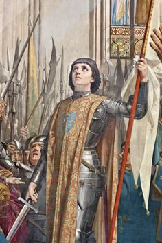 Reims, where Charles VII was crowned King of France in the presence of Joan of Arc 17 July 1429: Painting of Joan of Arc at the coronation of King Charles VII made ​​between 1886 and 1890 by Jules Eugène Lenepveu.
