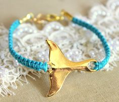 Friendship bracelet blue- the whale tail is a Maori symbol for speed and strength. I love this.