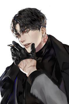Dark Anime Guys, Hot Anime Boy, Cute Anime Guys, Anime Guys Shirtless, Handsome Anime Guys, Yandere Boy, Anime Boy Sketch, Boy Character, Character Design