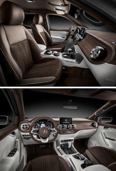 The interior of the Mercedes-Benz Concept X-Class defines a new level of comfort and value appeal in the segment of mid-size pickups.