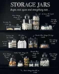 Love this idea for a kitchen! Beachy Colors, Cake In A Jar, Shine The Light, Southern Kitchens, Decorated Jars, Girl House, Jar Storage, Sugar And Spice, Kitchen Interior