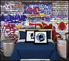 This site has TONS of skater and car and other theme bedroom ideas....lots of things for ALL kids actually!  GREAT IDEAS!