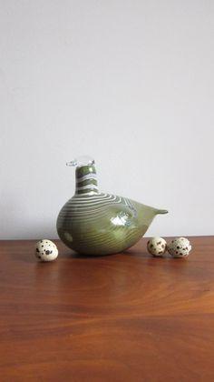 Oiva Toikka Glass Bird Nuutajarvi iittala by ModernSquirrel, $225.00