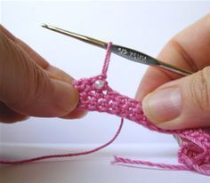 Adding beads to crochet projects....knowing this may come in handy someday...
