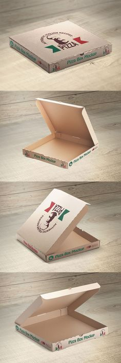 This is a set of free pizza box mockups which contains four editable PSD files, high resolutions and usable for your packaging design project.