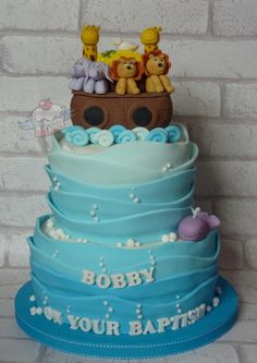 Noah's Ark Christening Cake - Cake by The One Who Bakes