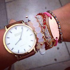 Gorgeous Bracelet + Watch Stack