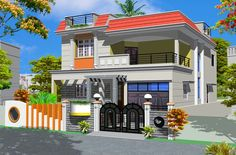 House Elevation, Front Elevation, Investment House, Smart House, House Front Design, Home Room Design, House Rooms, Side View, Second Floor