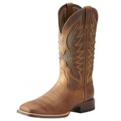 Ariat style 100023129 is the newest addition to Ariat's VentTEK Ultra line. These boots combine comfort with good looks. The Distressed Brown vamp looks great with denim jeans of all shades and khaki dress slacks. Blue Boots, Brown Boots, Men's Boots, Dress Slacks, Khaki Dress, Ariat Mens Boots, Boot City, Spur Straps, Cowboy Boots