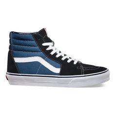 Zapatillas casual unisex U Vans Men's High Top Sneakers, Blue Sneakers, High Top Vans, Vans Sneakers, Mens Vans Shoes, Suede Sneakers, Blue Shoes, Sk8-hi Vans, Tenis Vans