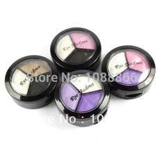 3 Color Makeup EyeShadow Powder Palette 24 HR Box Shimmer Creamy Cosmetics