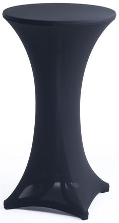 "23"" x 42"" Stretch Cocktail Table Cover - Black"