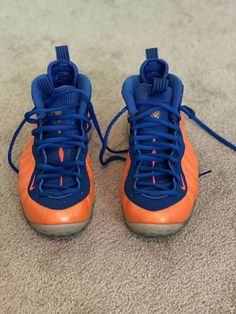 new style 04f8a 74b29 Nike Air Foamposite One New York Knicks Blue Orange size 10  fashion   clothing