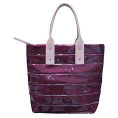 Magenta/Lilac Masquerade Zip Bag  by Kaizer Leather
