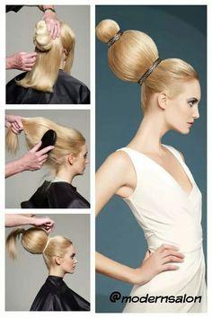 Ryys from Szorakozas Vintage Hairstyles, Up Hairstyles, Pretty Hairstyles, Crazy Hair, Big Hair, Doubles Chignons, High Fashion Hair, Wacky Hair, Hair Arrange