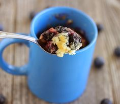 This may be the streusel talking, but I am totally in love with this mug cake. I've been trying to make mug cakes outside of the traditional ones. So the last few weeks I worked on this blueberry muffin one. And no muffin is complete without streusel. I love blueberry muffins. And I love that …
