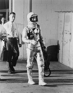 May 24 1962 - Scott Carpenter on the Way to Mercury-Atlas 7 Launch Site