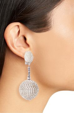Beaded Drop Statement Earrings OSCAR DE LA RENTA On Sale! $296.98 (40% off)   These playful bauble drops get an elegant refresh with glistening beading and sparkling crystals.
