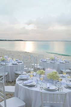 #white beach wedding reception... Wedding ideas for brides, grooms, parents  planners ... https://itunes.apple.com/us/app/the-gold-wedding-planner/id498112599?ls=1=8 … plus how to organise an entire wedding, without overspending ♥ The Gold Wedding Planner iPhone App ♥