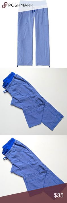 """Athleta 2 Allegro Yoga Capri Pants Cobalt Blue Athleta Women's Allegro Yoga Capri Pants Cobalt Blue Heather Crop   Size: 2  Waist: 12.25"""" Rise: 8""""  Inseam: 22""""  Condition: EUC My items come from a smoke-free household, we do have a kitty, so an occasional hair may occur! Washed in Cold, hung dry Athleta Pants Ankle & Cropped"""