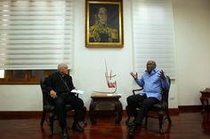 Instituto Manquehue - Vicepresidente Istúriz se reúne con Monseñor Diego Padrón