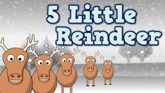 5 Little Reindeer (December-themed song for kids) Preschool Christmas Songs, Preschool Songs, Kids Songs, Kids Christmas, Best Christmas Songs, Christmas Program, Christmas Concert, Christmas Videos, Christmas Activities