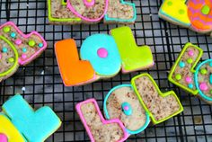 Chocolate chip cut out cookies, Very simple decorated, LOL