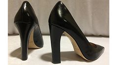 Katie's loving these thick heel Elizabeth and James pumps!
