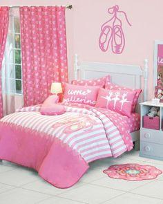 Girls Pink Little Ballerina Comforter Sheet Bedding Set Twin 6 Pcs Full Comforter Sets, Girls Bedding Sets, Bed Sets, Baby Bedroom, Girls Bedroom, Bedroom Themes, Bedroom Decor, Bedroom Ideas, Ballerina Bedroom