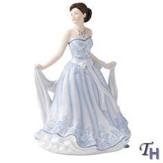 Royal Doulton Pretty Ladies Petite Traditional Gillian (Blue) 6.7