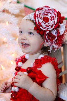 Valentine Headband, Baby Girl Headband, Holiday Headband, Baby Headband, Newborn Headband, Fascinator, Couture Headband on Etsy, $24.95
