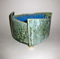 Vintage Art Pottery Japanese Ikebana Planter Vase Mid Century Modern Eames Era   eBay