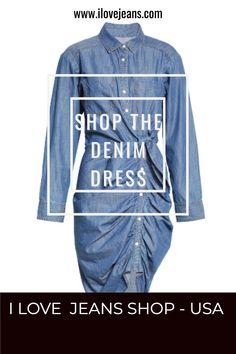 denim dresses for women casual summer/ plus size fashion for women summer casual dresses denim jackets / smart casual denim dress / Black Jeans Outfit Night, White Jeans Outfit Summer, Denim Shorts Outfit, Denim Jacket With Dress, Jeans Outfit Winter, Denim Dresses, Casual Dresses, Smart Casual Denim, Plus Size Fashion For Women Summer