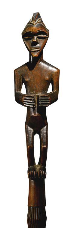 Mbala Figural Staff, D.R. Congo