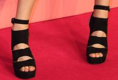 Toni Garrn in Stuart Weitzman 'Slits' Dress Sandals