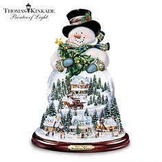 Musical Snow Globes | musical snowman snow globe 298x300 Thomas Kinkade Musical Snowman Snow ...