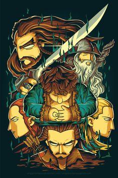 The Hobbit Fan Art - Created by Angga Tantama You can follow the artist on Tumblr.