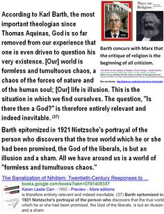 """Karl Barth, the most important theologian since Aquinas:  """"God is so far removed from our experience that one is even driven to question his very existence."""" // Was Barth's essentially agnostic philosophy owing to any real failure in the Bible to address the problem of evil in the world -- failure to answer 'How/why an almighty God of love permitted evil to exist even for a day?' Ctrl + click:  http://www.jw.org/en/bible-teachings/questions/our-suffering/  then open the new tab in your…"""