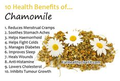 10 Health Benefits of Chamomile | Eating Healthy Living Fit - EatHealthyLiveFit.com