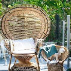 A chair fit for a 'Mumma to be' for her baby shower. Due to popular demand we have more of these natural beauties arriving at the end of October. Vintage Props, Beautiful Baby Shower, Prop Styling, Baby Showers, Wicker, October, Popular, Photo And Video, Chair
