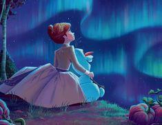 Anna and Olaf Film Disney, Disney Nerd, Arte Disney, Disney Love, Disney Magic, Princesa Disney Frozen, Disney Princess Frozen, Disney Concept Art, Disney Fan Art