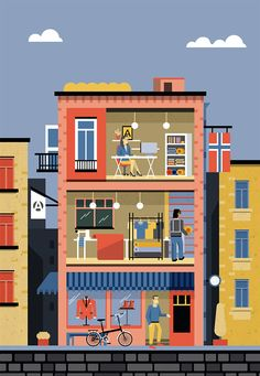 Editorial illustration projects III on Behance