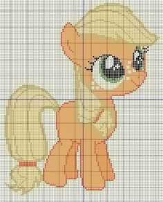 Buzy Bobbins: Filly Applejack Standing - My little pony cross stitch design
