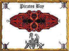 Hestia Cuff/Bracelet  Miyuki Delica PDF by PiratesOfTheBeads, $6.00