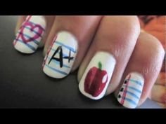 Back to school nails...how cute :-)