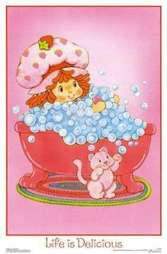 ♡Strawberry Shortcake. When I was little mom did my whole bedroom set with Strawberry.