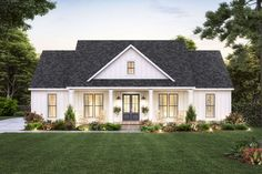 House Plans One Story, Cottage House Plans, Craftsman House Plans, Best House Plans, One Story Homes, Small House Plans, One Floor House Plans, Acadian House Plans, Porch House Plans